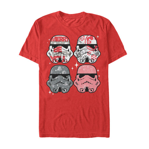 Men's Disney Star Wars Stormtrooper Candy Ugly Sweater Style Christmas T-Shirt