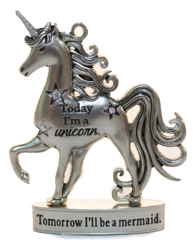 2 Inch Inspirational Unicorn Figurine With Sparkle Rhinestones- Today I'm A Unicorn