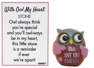 With Owl My Heart Owl Pocket Stone With Story Card (Love You Forever)