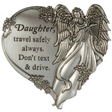 Ganz Zinc Guardian Angel Visor Clip - Don't Text And Drive -Daughter