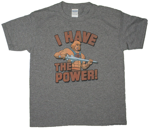 Big Boys Masters Of The Universe I Have The Power! Youth Size T-Shirt (Youth X-Small (2/4))