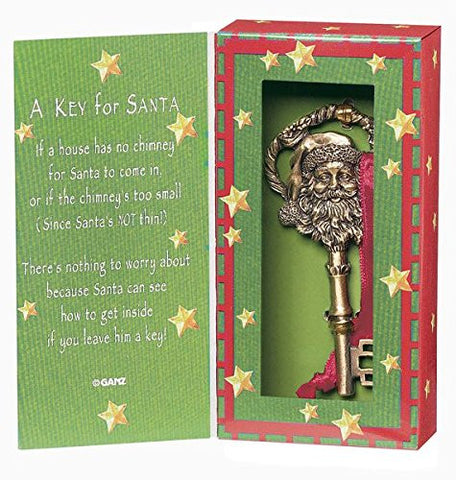 Ganz A Key for Santa Ornament Zinc Set
