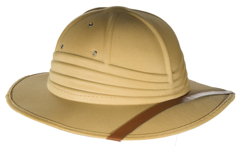 Costume Accessory - Pith Helmut Hat w/ Elastic Band For Comfortable Fit