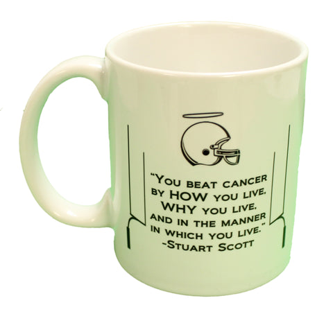 Stuart Scott Tribute Beat Cancer Coffee Mug Microwave & Dishwasher Safe!