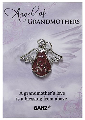 Ganz Angel of Grandmothers Tac Pin with Story Card