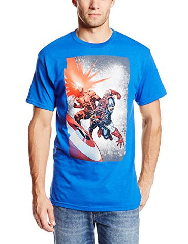 Marvel Comics Captain America and Cyclops Team Up Men's T-shirt (Small)