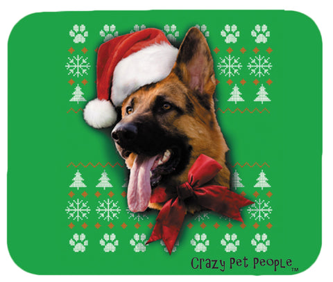 Dog Lovers German Shepherd Ugly Sweater Christmas Design Mouse Pad