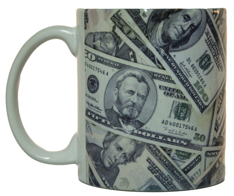 All Around Print Money Collage Coffee Mug Microwave & Dishwasher Safe!