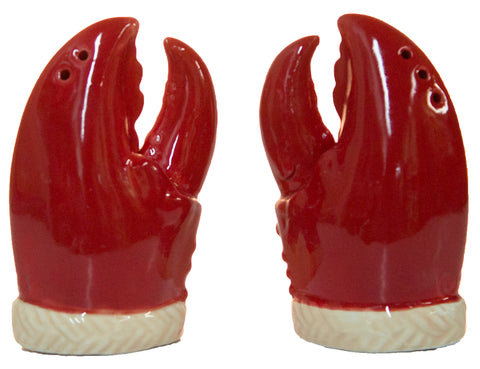 Ceramic Crab Claw Salt & Pepper Shaker Set