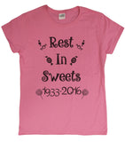 "Ladies Gene Wilder Tribute ""Rest In Sweets"" T-Shirt"