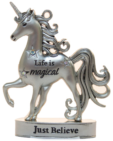 2 Inch Inspirational Unicorn Figurine With Sparkle Rhinestones- Just believe