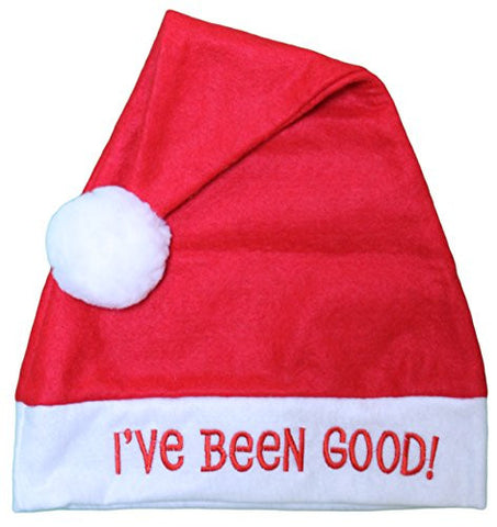 "Jacobson Hat Company ""I've Been Good"" 18 Inch Santa Hat"