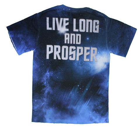 Star Trek Spock Portrait Sublimated Premium All Over Print Men's T-Shirt