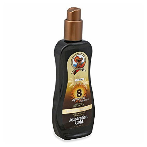 Australian Gold Gold Spray Gel with Instant Bronzer, SPF 8 8 oz