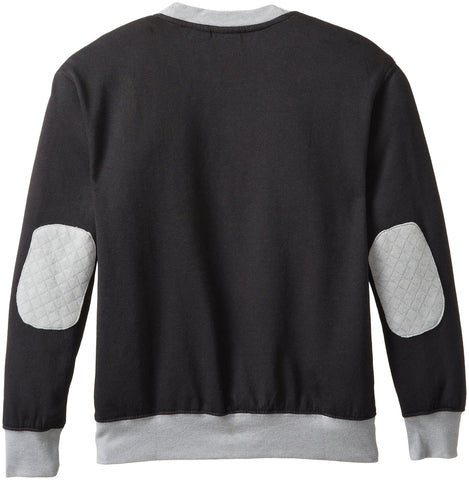 Star Wars Boys' Crewneck Sweatshirt, Black/Charcoal, Small