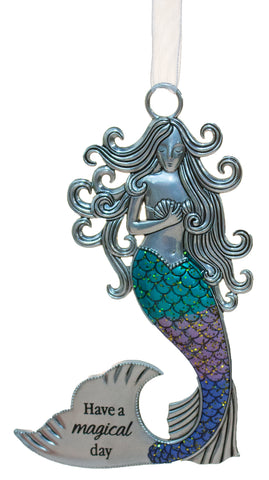 3.5 Inch Zinc Mermazing Mermaid Ornament- Have A Magical Day