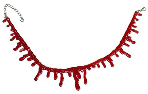 Halloween Costume Accessory - Adjustable Blood Drip Choker Necklace