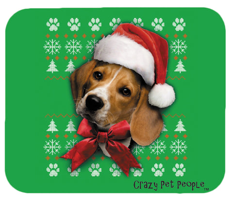 Dog Lovers Beagle Ugly Sweater Christmas Design Mouse Pad