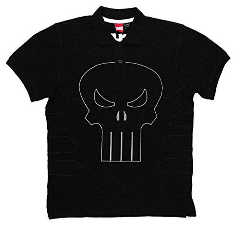 Punisher Frank's Polo Men's Polo Shirt, Black, Small