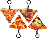 Realistic Pizza Slices Plush Key Chain/ Backpack Clip