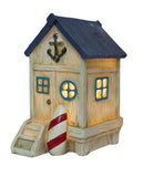 4 Inch Polyresin Light Up Beach House Figurine
