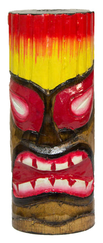 6 Inch Tall Hand Carved, Hand Painted Tiki Totem Pole  - Big-Fire
