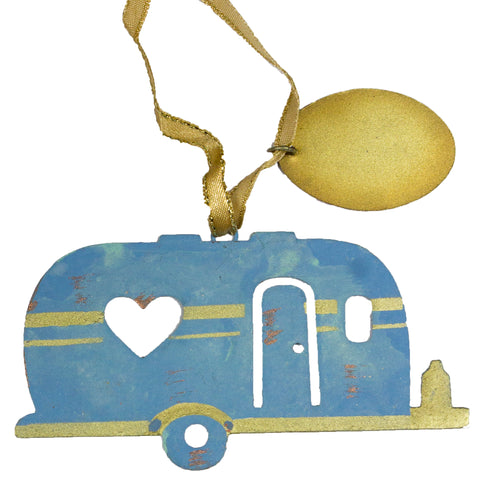 Christmas/ Everyday Ornament - Metal Camper Ornament w/ Engravable Tag