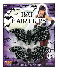 Costume accessory - Glittery Bat Hair Clips (Pair of 2 Pieces)