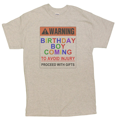 "Men's ""Warning Birthday Boy Coming"" Funny Birthday T-Shirt"