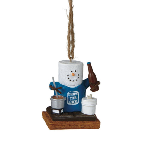 "1 X S'mores ""Brew Your Own"" Beer Ornament"