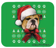 Dog Lovers Bulldog Ugly Sweater Christmas Design Mouse Pad