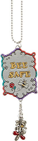 "Ganz Colorful ""Bee Safe"" Car Charm"