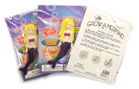 Set of Three Grow a Mermaid Just Add Water Mermaids