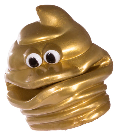 Funny Soft Latex Poop Shaped Hand Puppet (Gold)