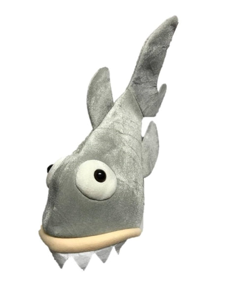 22 Inch Tall Soft Velvet Plush Shark Hat Costume Accessory