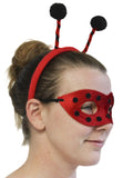 Ladies Halloween Costume Accessory - Ladybug Mask and Bopper Headband Set