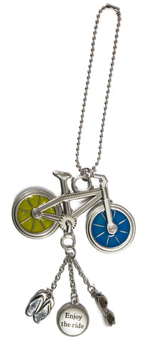 Fun In The Sun Zinc Car Charm -Bicycle (Enjoy The Ride)