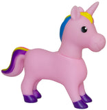 8 Inch Soft Plastic Squeezable Squeaking Unicorn Figurine (Pink)