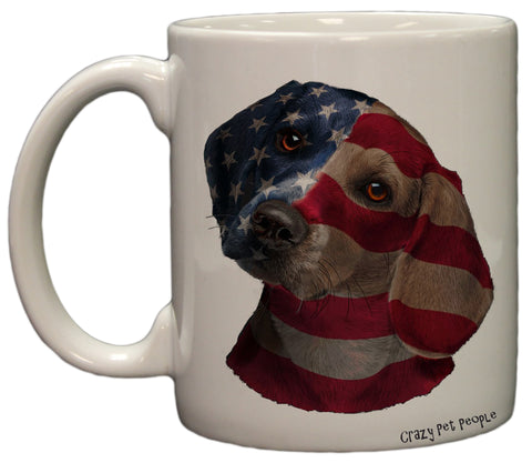 Dog Lovers Patriotic Beagle 11 Ounce Coffee Mug