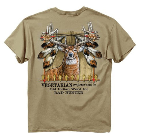 Men's Buck Wear Vegetarian Hunter Humorous Hunting T-Shirt