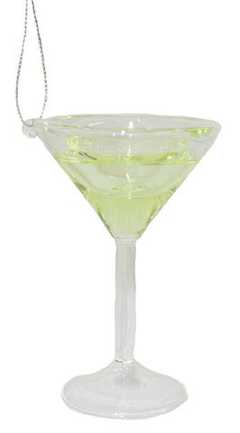 4 Inch Merry Martini Glass Ornament with Recipe Card