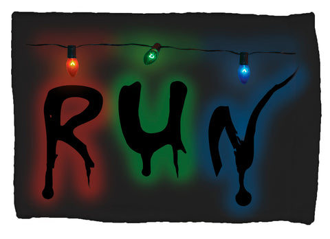 Strange Run w/ Christmas Lights Super Soft 8 x 12 Inch Hand Towel