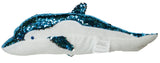 18 Inch Color Changing Sequin Dolphin Plush Pillow (Blue)