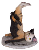 Cute and Funny Yoga Lovers Yoga Cat Polystone Figurine in Choice Of Pose