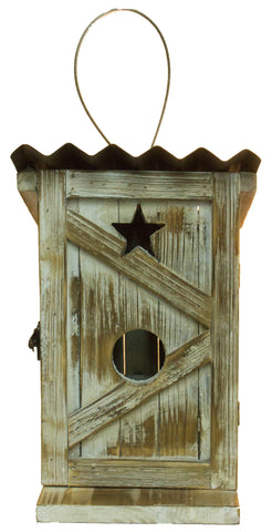 Adorable Wood Outhouse Birdhouse