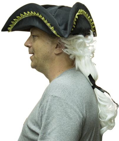 Colonial Hat with Wig