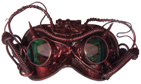 Costume Accessory - Steampunk Mask w/ Spikes and Mirrored Lenses