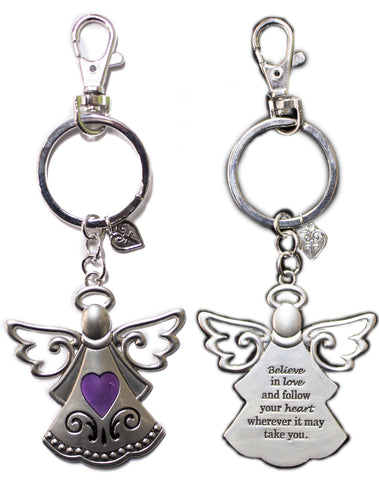 Special Angel Zinc Key Chain w/ Clip & Story Card - Love