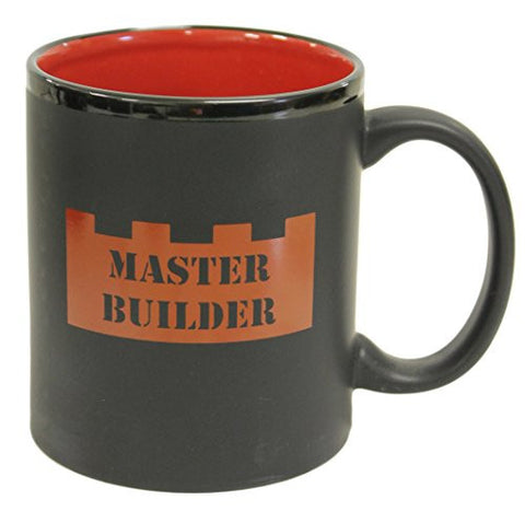 Lego Inspired Master Builder Building Block 12 oz Ceramic Coffee/Hot Cocoa Mug