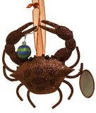 5 Inch Metal Glitter Crab Christmas Ornament
